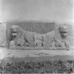 sírkő, oroszlánok