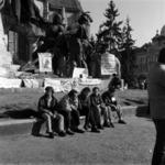 Gyülekező a Mátyás király szobornál