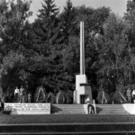 wreathing monument